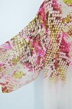 Print Chiffon Pareo Robe Plage Caftan Swimwear Cover up