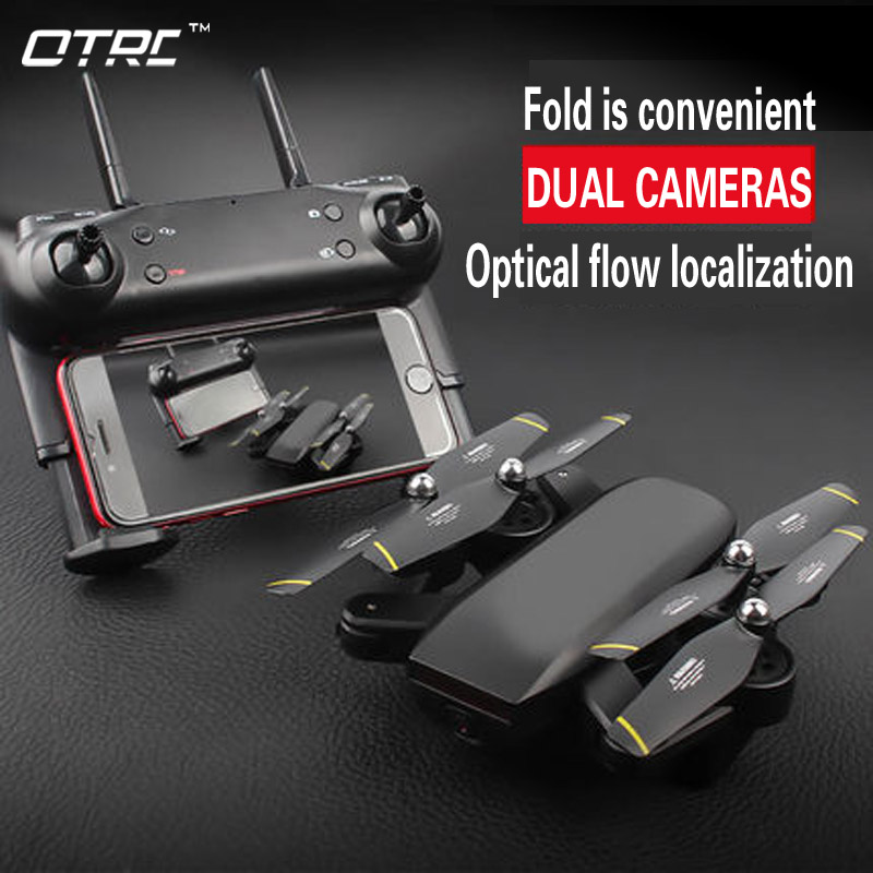 OTPRO D107 0.3MP/2MP 4k Rc Drone Quadcopter com Câmera Wifi FPV Dobrável Selfie Altitude Hold Headless Gesto BRINQUEDOS de controle