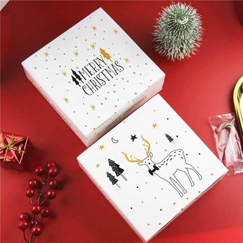 Merry Christmas Candy Gift Boxes Deer&Xmas Tree Guests Packaging Boxes Gift Bag Christmas Party Favors Kids Gift Freeshipping