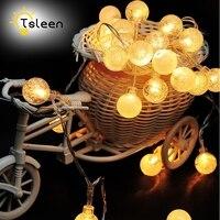 Tsllen أفضل عرض! 1 قطعة الصمام سلسلة أضواء حبل 5 متر 40 المصابيح الكريستال كرات مصباح للماء ديكورات حفل زفاف عيد