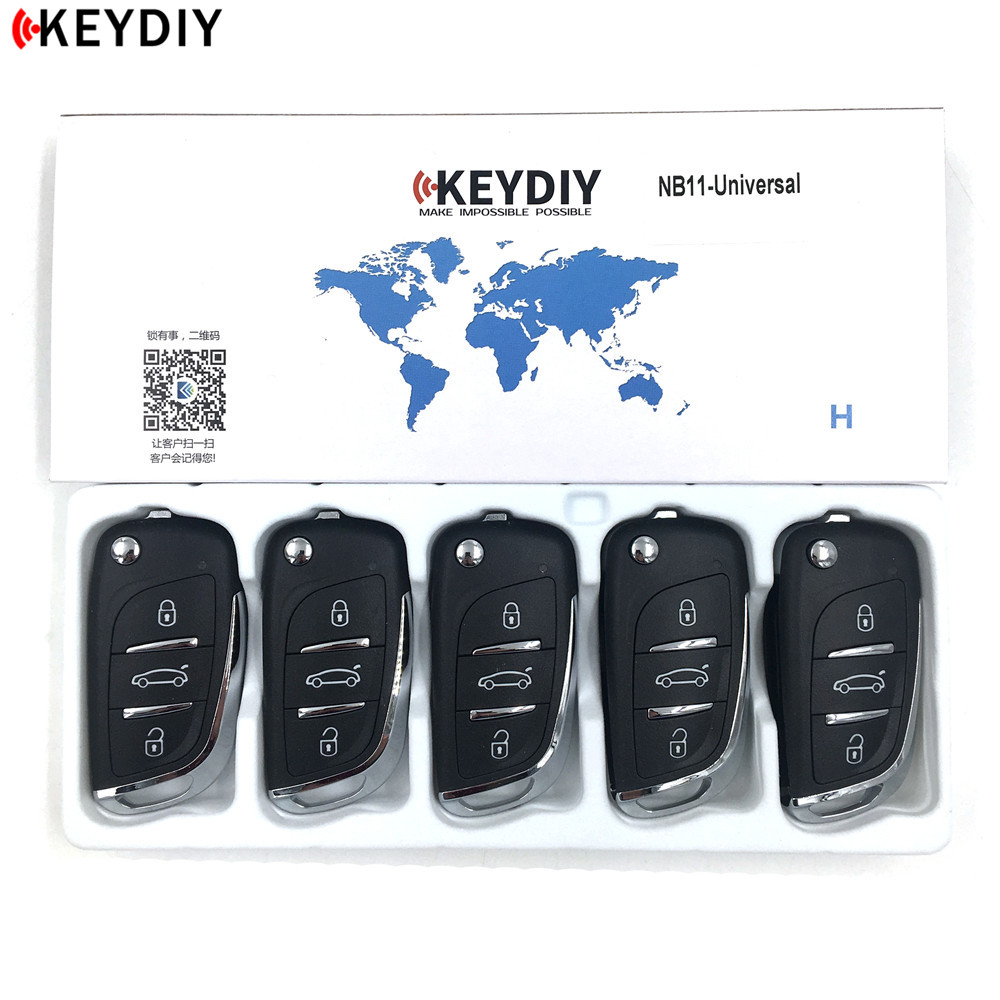 5pcs,KEYDIY Original KD900/KD-X2 Key Programmer NB11 Universal Multi-functional DS Style Remote Suitable For All B And NB Series(China)
