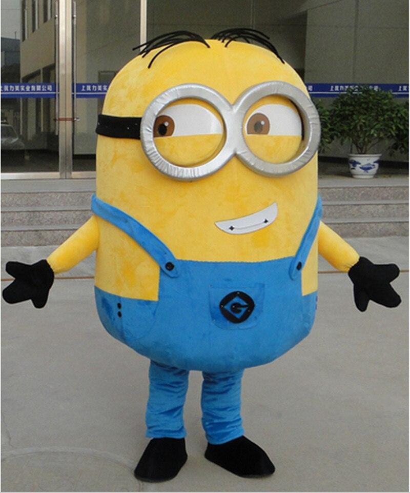 2014 ARRIVE minion Mascot Costume Adult Character Costume Cosplay minions mascot costume free shipping