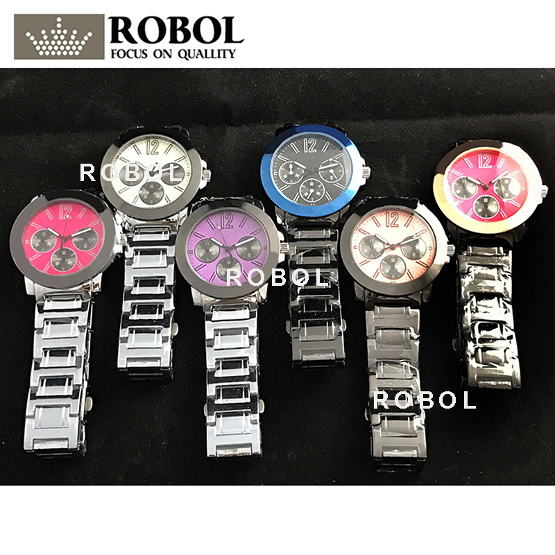 ROBOL Stainless Steel Men Women Couples Quartz Watches Fashion Luxury Jewelry Gift Retro Precision Elegant NobleROBOL Stainless Steel Men Women Couples Quartz Watches Fashion Luxury Jewelry Gift Retro Precision Elegant Noble