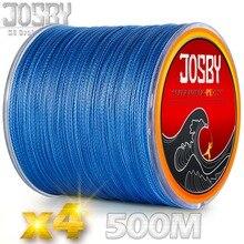 JOSBY Японии ПЭ рыбалка плетеный линии для ловли карпа линии 500 м 4 нити, нити 10 20 30 40 50 60 70 80 кг синий воды Охота