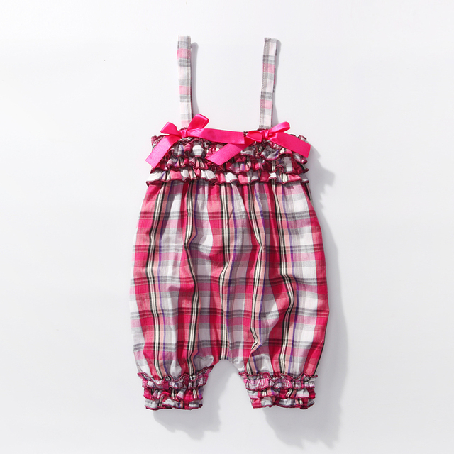 7dd1872c6d475 US $4.99 |0 3 Month Girl Clothes Infantil 0 2y Newborn Infant Baby Girls  piald Jumpsuit Children Pink Plaid Layette Bebe Girls Romper-in Rompers  from ...