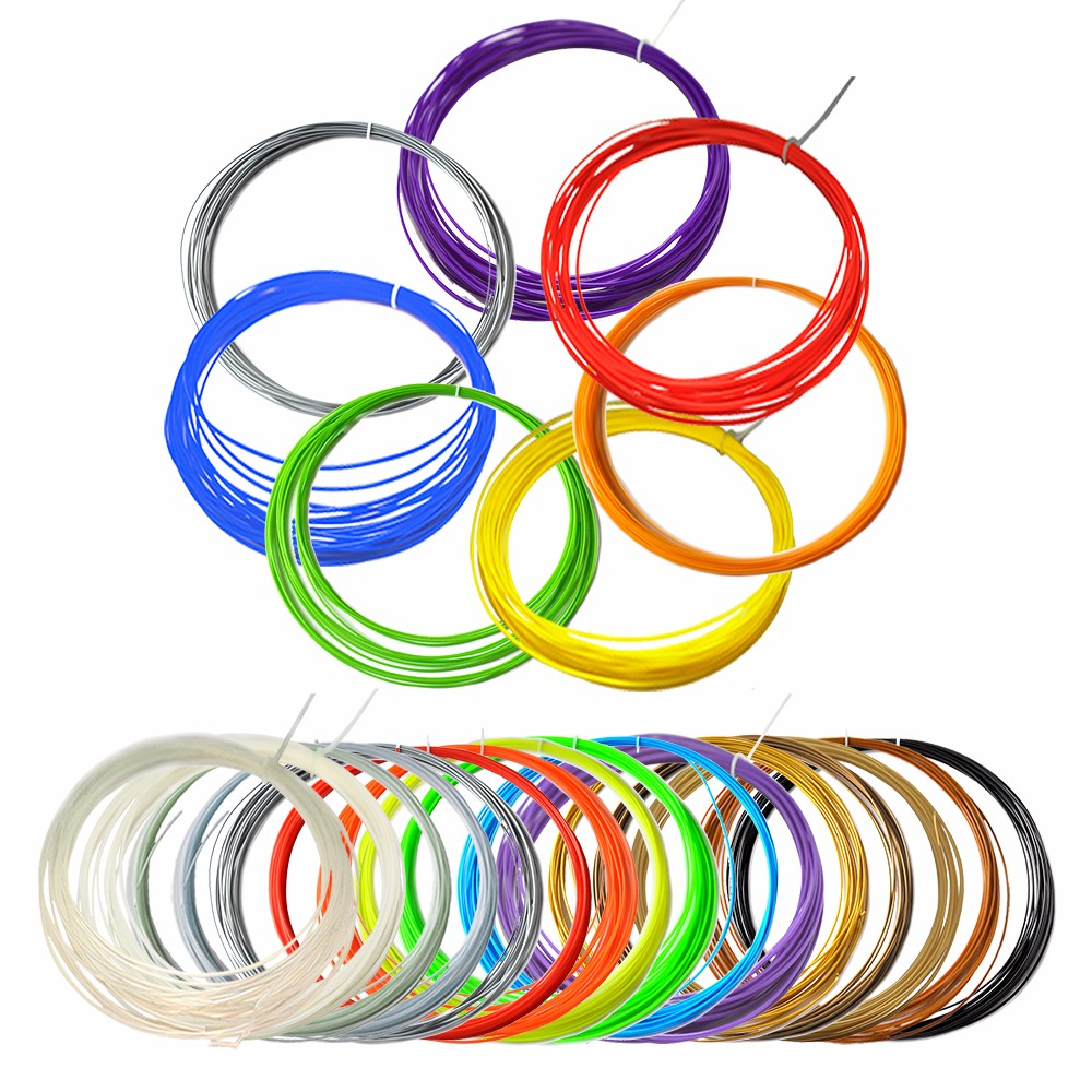 20pcs of 10 Meters 3D Pen Filament Extruder 1.75mm 20 Colors of ABS and PLA for 3D Pen Filament for 3D Pens Doodler Printer Pens от Aliexpress INT