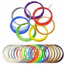 20pcs of 10 Meters 3D Pen Filament Extruder 1.75mm 20 Colors of ABS and PLA for 3D Pen Filament for 3D Pens Doodler Printer Pens