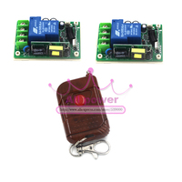 Long Distance 200m AC 85V 250V 30A 1 CH 110V RF Wireless Remote Switch 2 Receiver