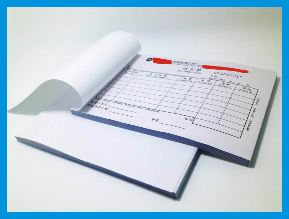 A5 210*148mm Triplicate Invoice Forms Invoice Book Duplicate Receipt Books Printing