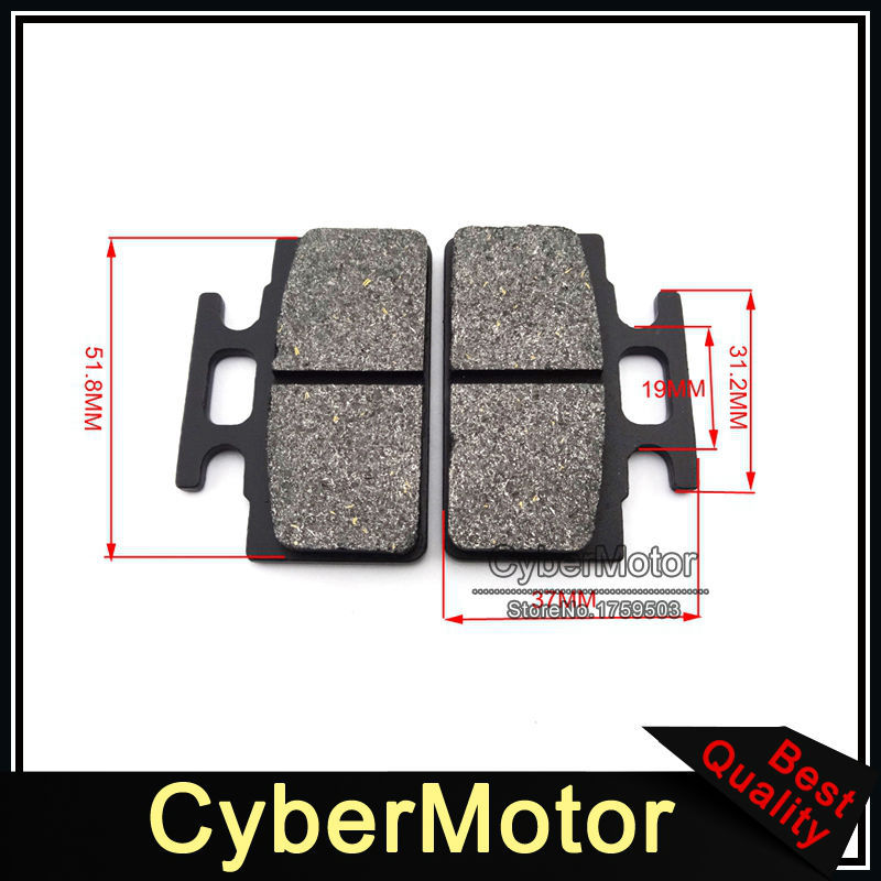 US $5 69 5% OFF|ATV Disc Caliper Brake Pads Shoes For 50cc 70cc 90cc 110cc  125cc Chinese Quad 4 Wheeler Pit Dirt Motor Bike Motorcycle Motard-in Brake