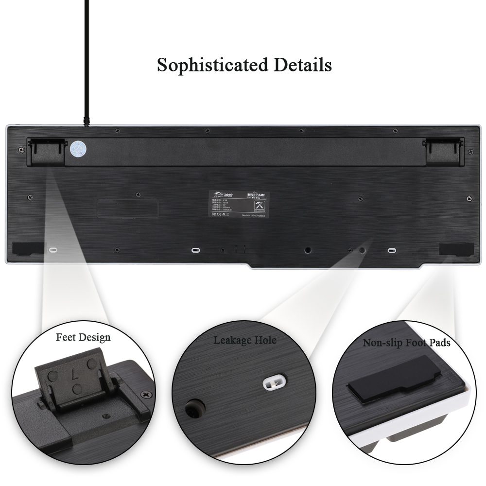 Super Discount Ergonomic LED Illuminated Backlit Multimedia Professional Esport Gaming Qwerty Keyboard USB Wired with 104 Keys 2