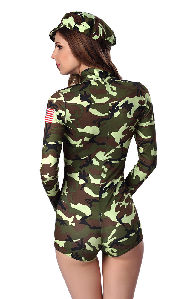 HTB1nECkLXXXXXbOXFXXq6xXFXXXP - FREE SHIPPING Adult Sexy Army soldier Costumes Commander camouflage printed romper with long sleeves JKP283