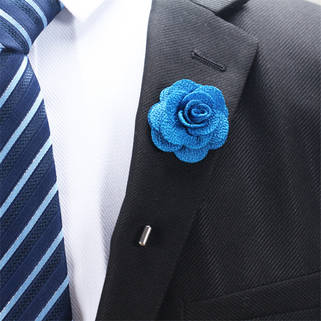 Tienda Online Broche flor lapel Pasadores 18 colores mujeres hombres ...