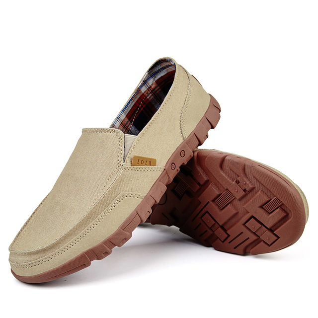 POLALI New Men Canvas Shoes Men's Fashion Solid Comfortable Casual Shoes Men Lace-up Light Summer Loafers Shoes Plus Size 38-48