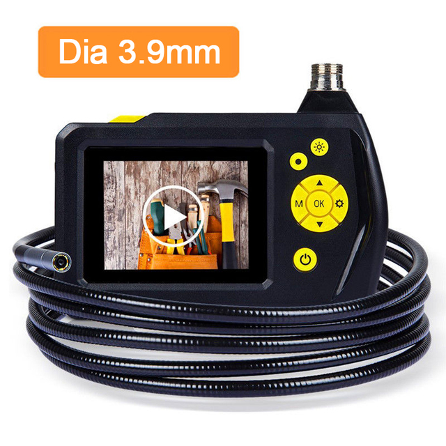 "Blueskysea Dia 3.9mm 2.7"" Color LCD NTS100 Endoscope 0.1 Megapixel VGA Borescope Snake Inspection 1M 3M Tube Camera 2 LEDs"