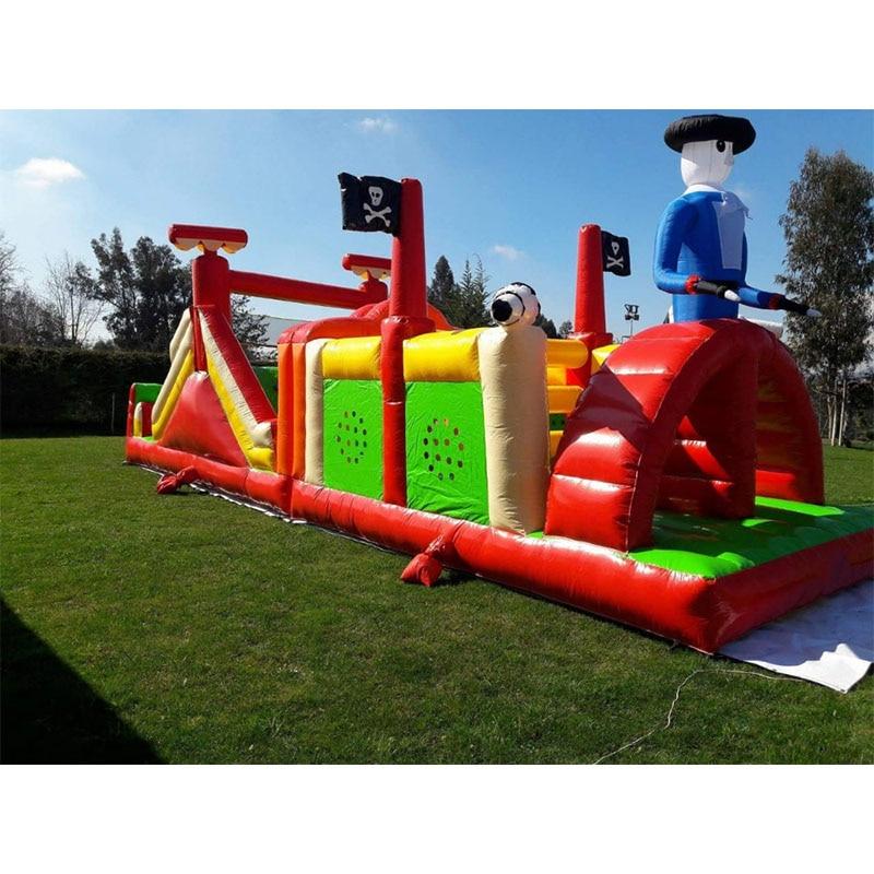 Aire de jeux gonflable parcours d'obstacles enfants parc d'attractions équipement intérieur/extérieur équipement de jeux d'intérieur à vendre