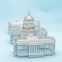 FREE SHIPMENT J41US CAPITOL WIRE MODEL/STATUES/SCULPTURE STAINLESS HAND-MADE ARTCRAFTS WEDDING&BIRTHDAY&HOME&OFFICE&GIFT&PRESENT