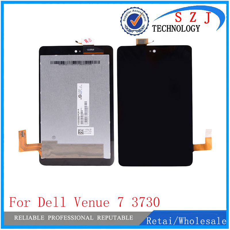 New 7'' inch case For Dell Venue 7 3730 Full LCD Display Monitor + Touch Panel Screen Digitizer Assembly Replacement Free shipp for lenovo yoga tablet 2 1050 1050f 1050l new full lcd display monitor digitizer touch screen glass panel assembly replacement
