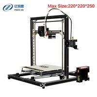 2018 Classic YMAX Tarantula I3 Aluminium Extrusion 3D Printer kit 3d printing 2 Roll Filament SD card Titan Extruder As Gift