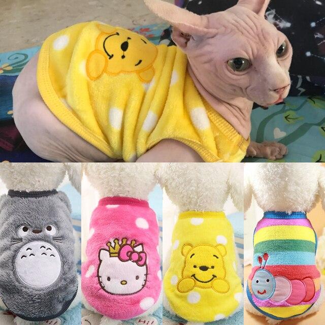 2018 новый теплый Cat Одежда осень-зима Pet Костюмы для кошки кролик из мягкого флиса котенок наряды кошка пальто куртка Костюмы