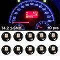 10 Pcs T4 Instrumento T4.2 Lâmpada LED 2835 SMD 1 LED Branco vermelho verde azul luz neo cunha calibre cluster traço luzes base de clima