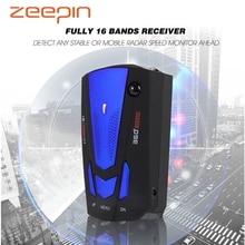 Zeepin антирадар автомобильный радар детектор лазерный радар детектор Русский Автомобильный детектор V7 голосовое предупреждение о скорости 16 светодиодный дисплей