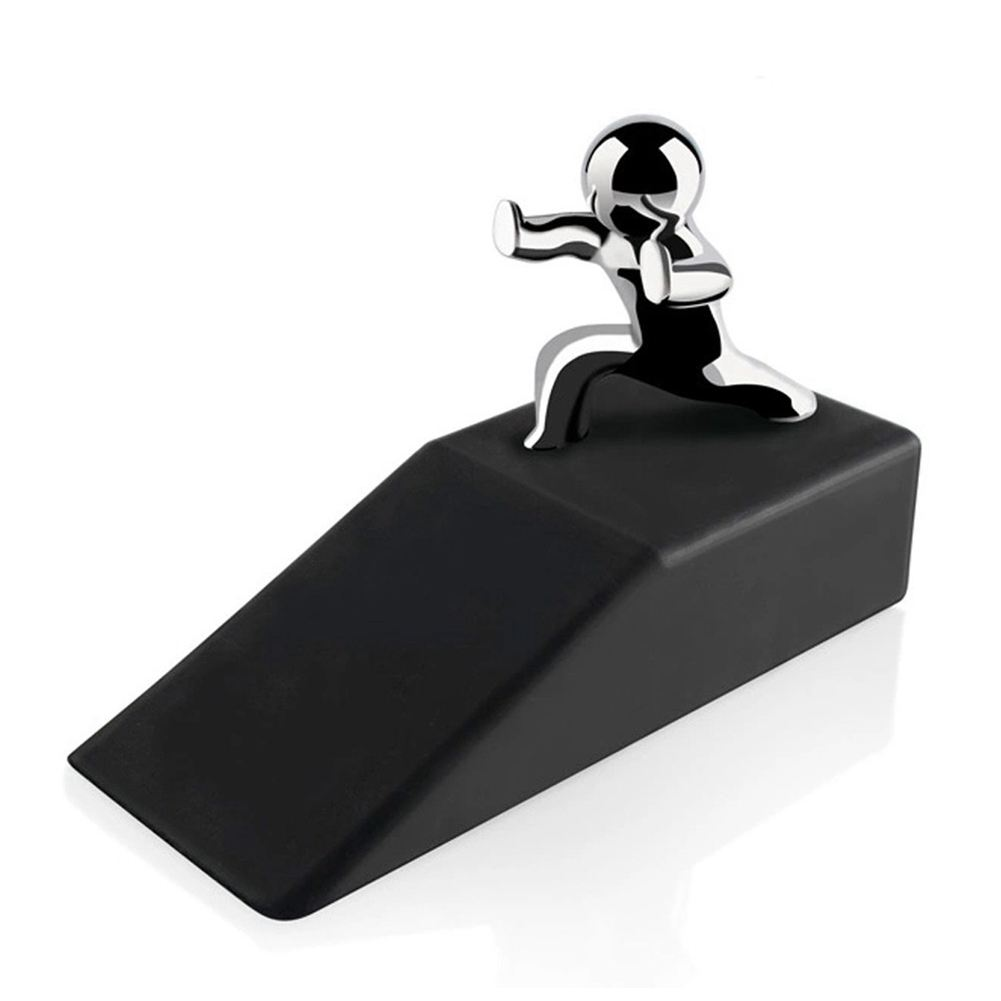 Zinc Alloy Little and Man with Non-slip Rubber Bases Door Stop Safe Anti-collision Door Stopper Noveltydesign Decorative hj18 anti slip aluminum alloy rubber decorative motorcycle handlebar covers black pair
