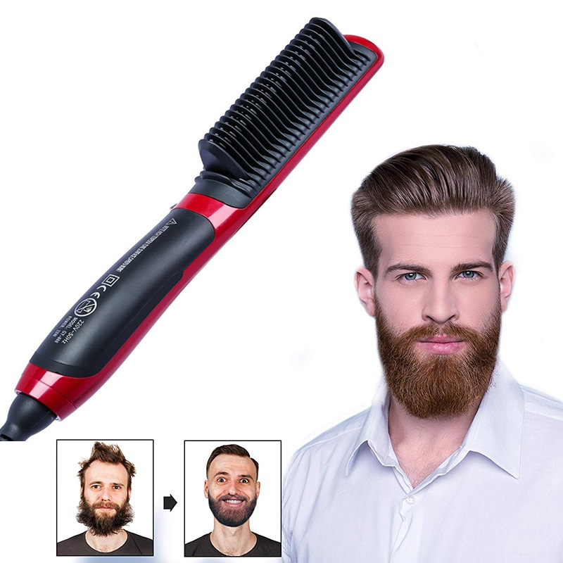 Hairbrush Hair Straightener Brush Electric Professional Iron Straightening Beard Iron Styling Beard Hot Comb Straightener Men