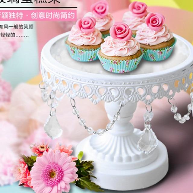 Mode Kristall Kuchen Stand Platte Geburtstag Kuchen Stehen Runde