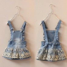 6m 5T Summer Baby Clothing font b Kids b font Overalls Bib Lace Denim font b