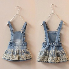 6m-5T Summer Baby Clothing Kids Overalls Bib Lace Denim Jeans Suspender Skirts Kawaii Outwear Toddler Shorts Baby Girls Clothes