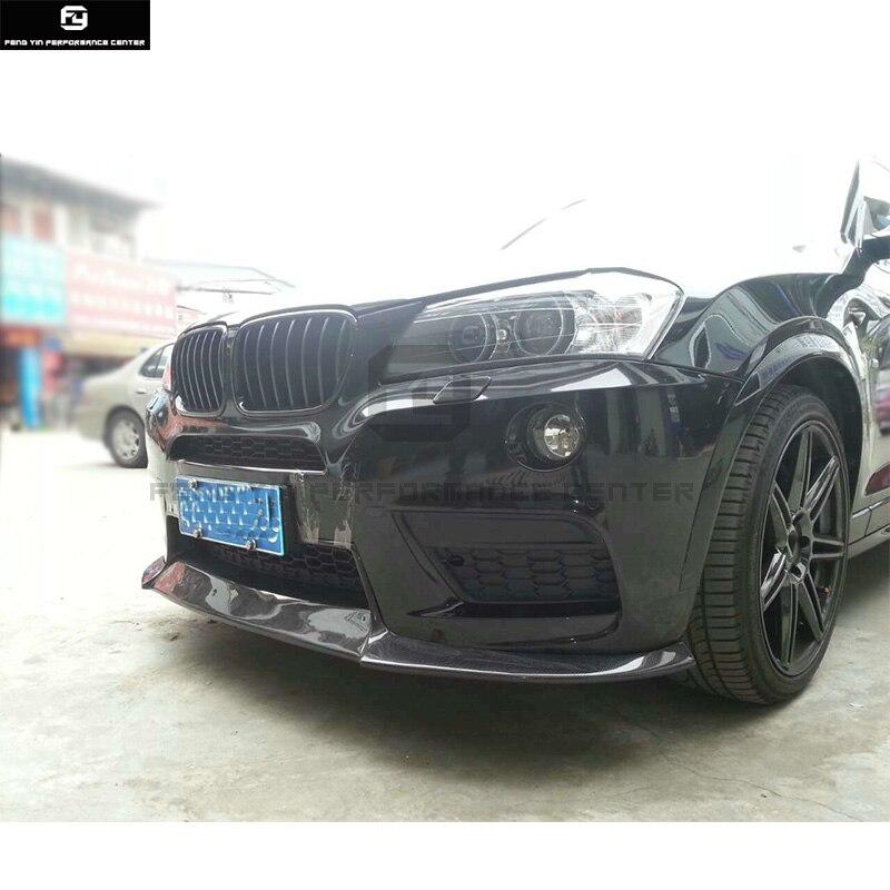 F25 X3 MT style fiber de Carbone pare-chocs avant lip pare-chocs arrière diffuseur pour BMW F25 X3 M-TECH pare-chocs 13- 16