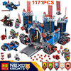 1171Pcs 10490 Nexus Knights The Fortrex Castle Model Building Block Toys Fox Axl Figures Compatible 70317
