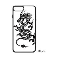 China Chinese Loong Myth Black White Totems Auspicious Dragon Power Phone Case For IPhone X 7