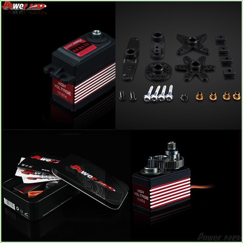 1pcs Power HD 21kg/ 57g Digital Servo HD-1218TH 7.4V High Voltage with 7075 Titanium Gears