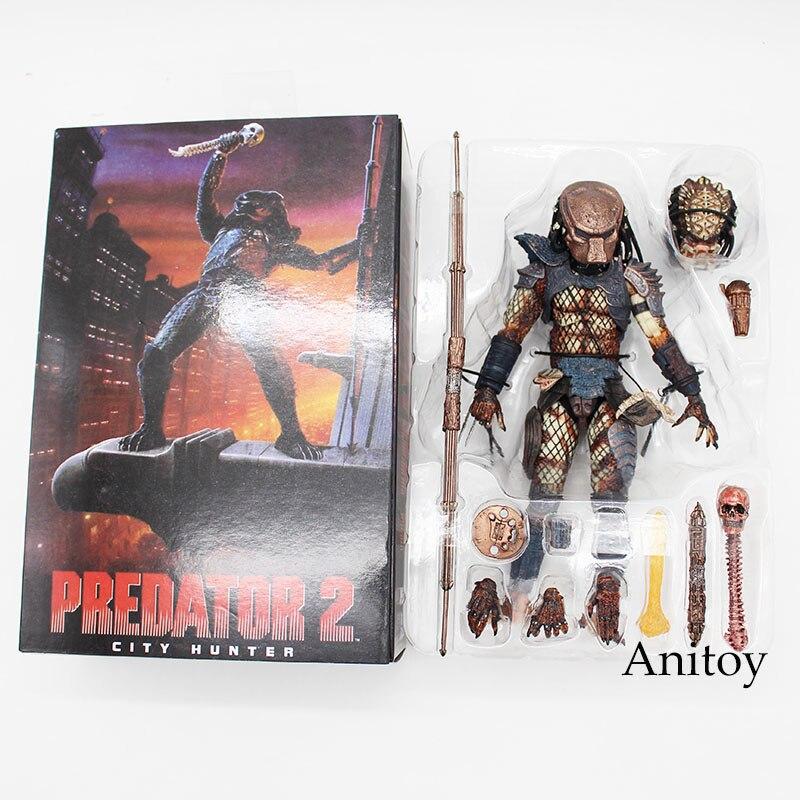 ФОТО Free Shipping Predator 2 City Hunter PVC Action Figure Collectible Model Toy 20cm KT3605