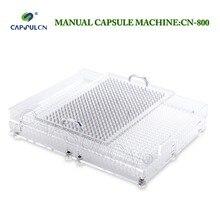 CN 800 000 # 4 # manuale della capsula di riempimento capusle macchina di rifornimento incapsulamento con 800 fori