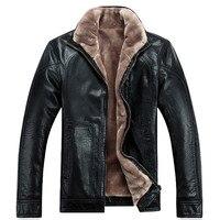 Бесплатная доставка Лидер продаж зимой толстые Овцы кожаная одежда Повседневное стекаются мужская кожаная куртка Костюмы кожаная куртка Д