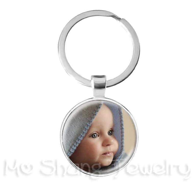 Персонализированные индивидуальный брелок фото мама папа детские, для малышей дедушка родители специально разработаны фото подарок для Семья Юбилей подарок