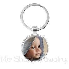 Personalizado personalizado chaveiro foto mãe pai bebê crianças avô pais personalizado projetado foto presente para o aniversário da família presente