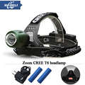 lantern 3000 lumens zoom led headlamp cree xm-l T6 head  lamp headlight lanterne head torch camping 18650 Rechargeable Battery