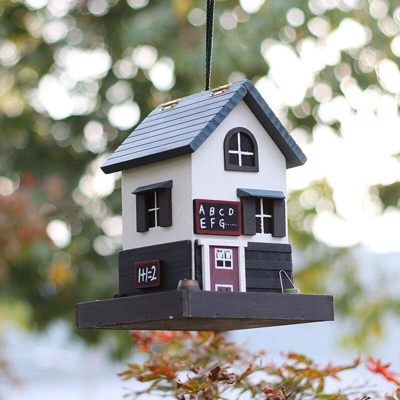 23x18x18 cm mangeoire de protection des oiseaux sauvages en plein air mangeoire pour oiseaux décoration de jardin villa mangeoire pour oiseaux HW053