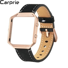 Новый Лучшая цена! Роскошные Пояса из натуральной кожи Часы наручные ремешок + металл Рамка для fitbit Blaze на смарт-часы доставка AUG3