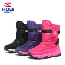 Kids Winter Shoes for Boys Girls Winter Boots Children Keep Warm Anti slippery Snow Shoes Mid-calf Rubber Sole HOBIBEAR H7559 winter plush mid calf boots shoes boys warm children shoes little girls snow boots kids fashion shoes hot sale aa11143