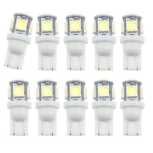 DXZ 2PCS Car Led 12v T10 5050 Super White 194 168 w5w Parking Bulb Styling yellow car accessories  interior light