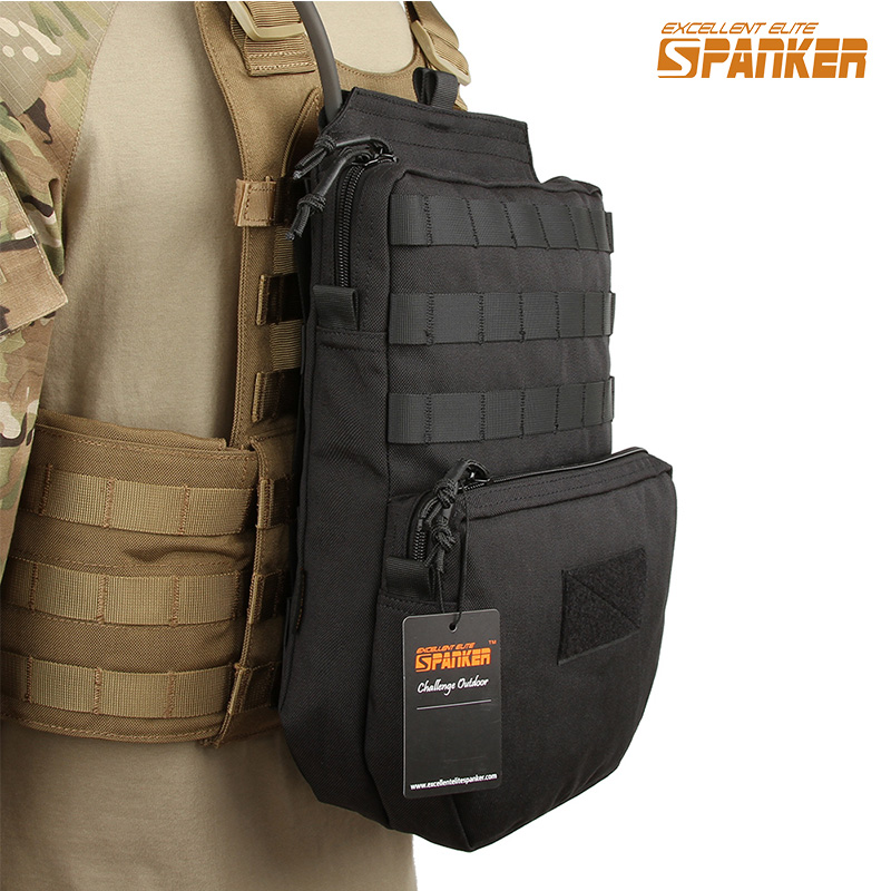 EXCELLENT ELITE SPANKER Outdoor Tactical Molle Nylon Hydration Bag Hunting Camouflage Waterproof Bags Military Army Combat Bag