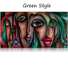 Pure Hand Painted Oil Painting On Canvas People Sex Girl Big Eyes Wall Art Eye Decorative Pictures Ready To Hang