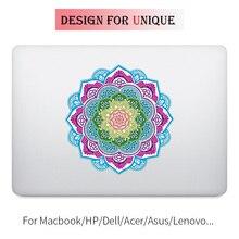 Classical Mandala Colorful Laptop Sticker for Apple Macbook Decal Pro Air Retina 11 12 13 15 inch Vinyl Mac Mi Surface Book Skin