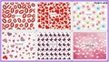 6 PACK/ LOT WATER DECAL NAIL ART NAIL TRANSFER STICKER FULL COVER BUTTERFLY KISS SWEET HEART LOVE VALENTINE YU411-416