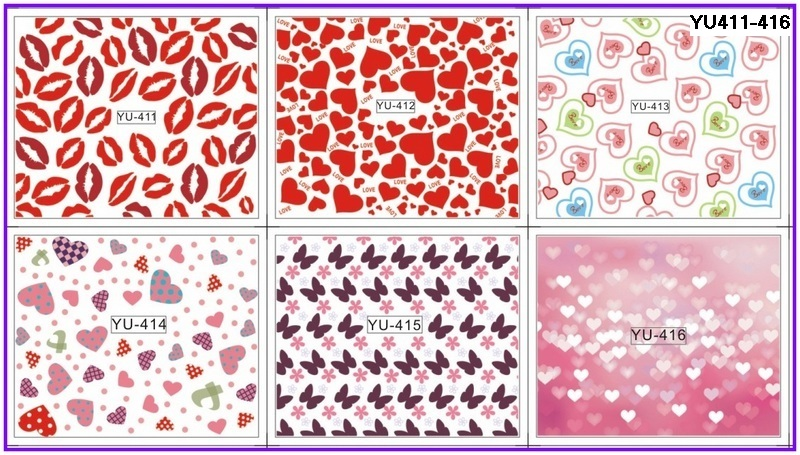 1sets 11designs Water Transfer Nail Art Sticker New Valentine Letterfor Nails Decor Decals Diy Beauty Polish
